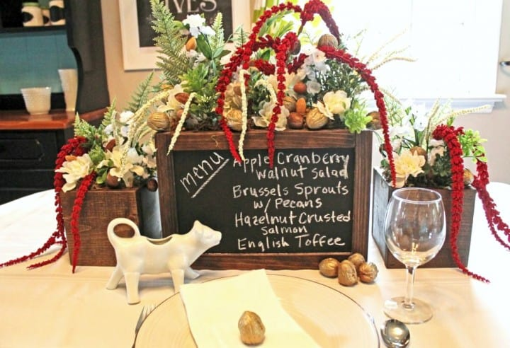 Holiday Menu Centerpiece Planter