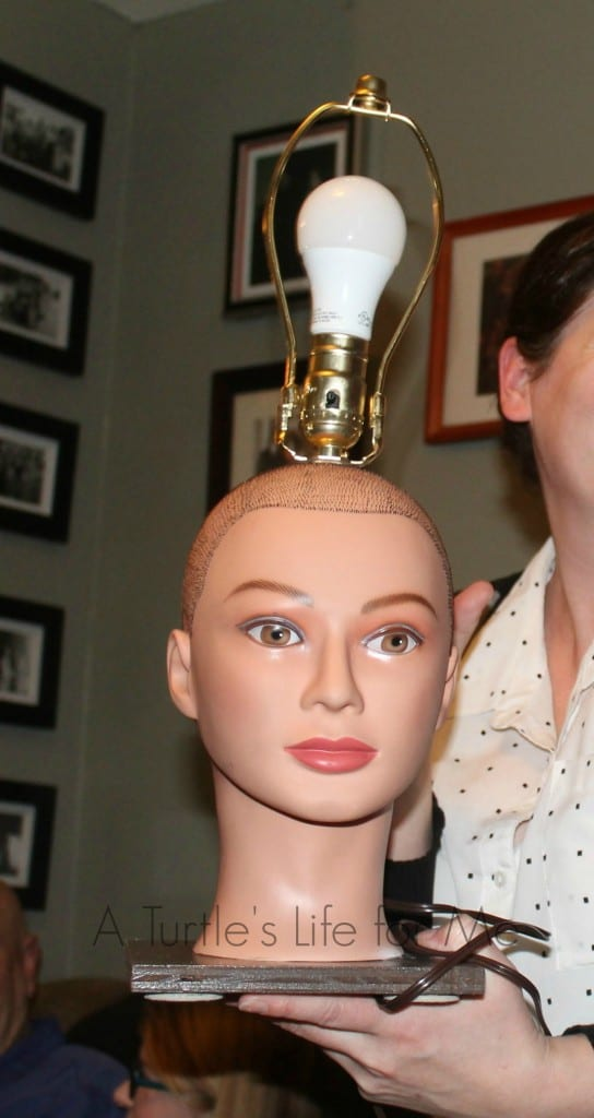 Doll head lamp