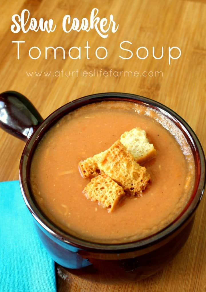 Slow Cooker Tomato Soup that tastes great and is healthy!