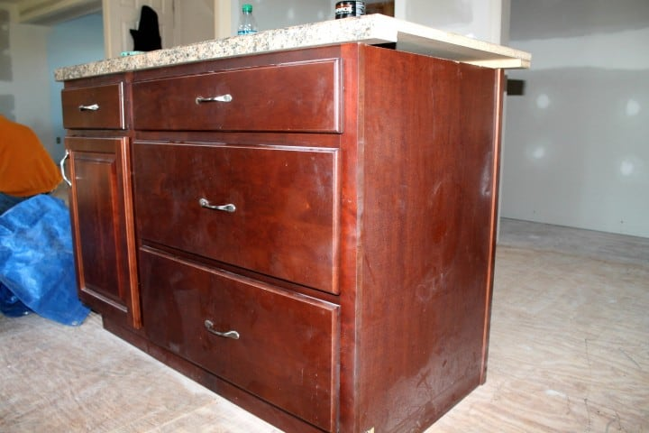 kitchen island dusty