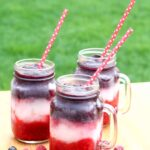 red white and blue bbq wine slushies