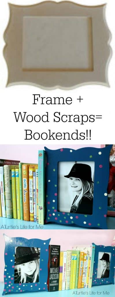Create bookends using an unfinished frame