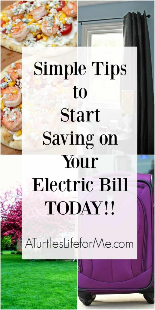 Simple Ways to start saving on your electric bill today