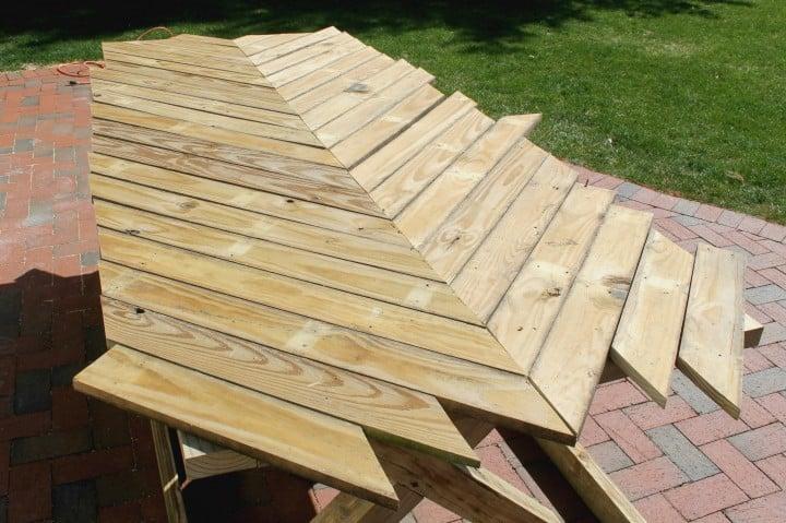 herringbone picnic build