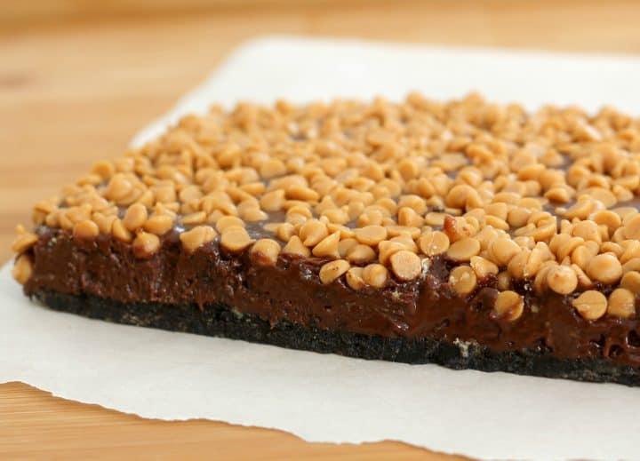 no bake peanut butter fudge bars