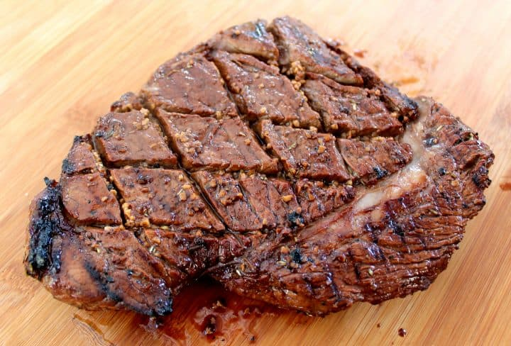 London Broil marinated and grilled