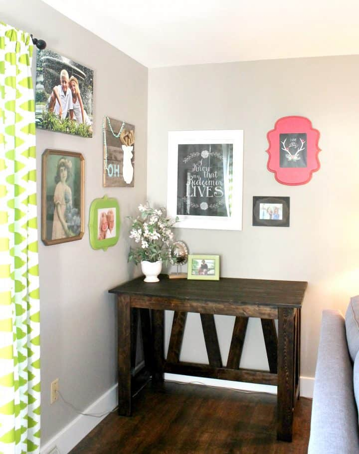 DIY Desk with 2x4 studs