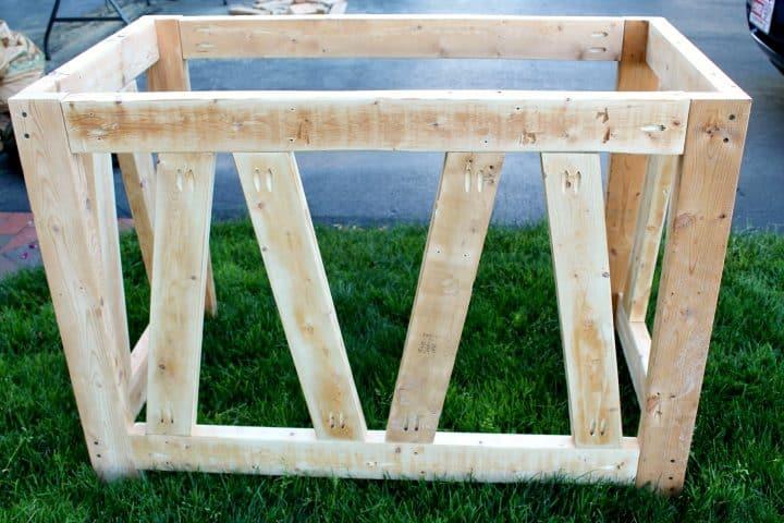 DIY desk unfinished 2x4s
