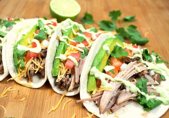 These are the easiest pork carnitas you will ever make! The meat stays so juicy and flavorful! You'll add this to your regular menu rotation!