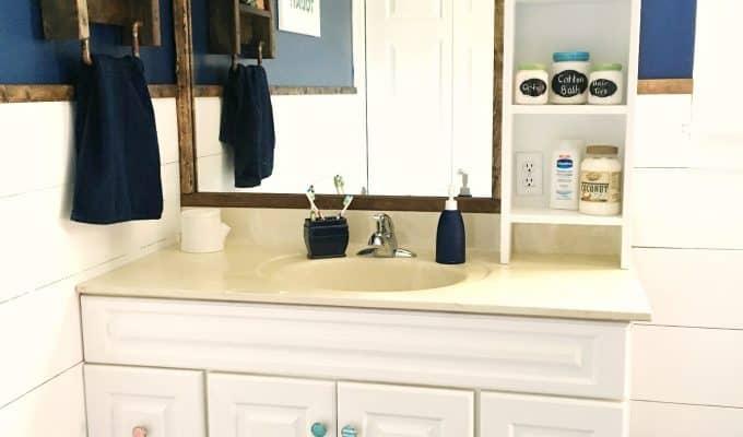 Built-in Shelves for Bathroom Vanity