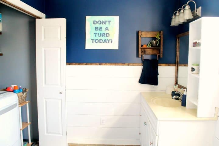 bathroom laundry room makeover before and after