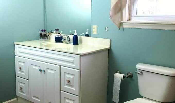 A turtle 39 s life for me just a wife mother daughter - How to replace a bathroom vanity ...
