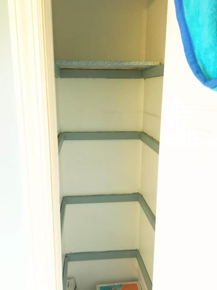 linen closet before shelves