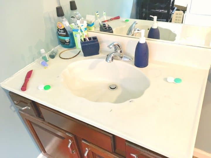 seashell-sink-before