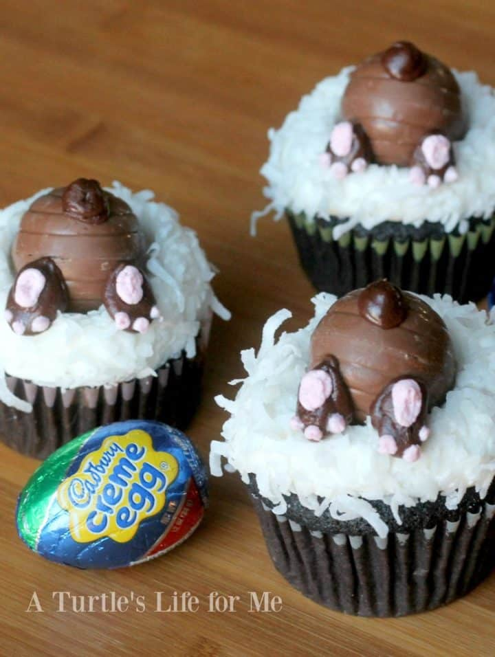 Cadbury bunny cupcakes for Easter- A Turtles Life for Me