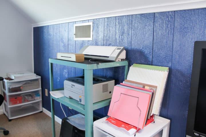 Craft Room printer cart