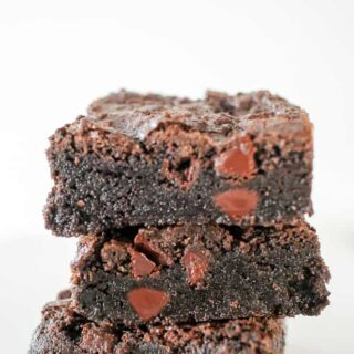 Triple Chocolate Fudge Brownies Recipe
