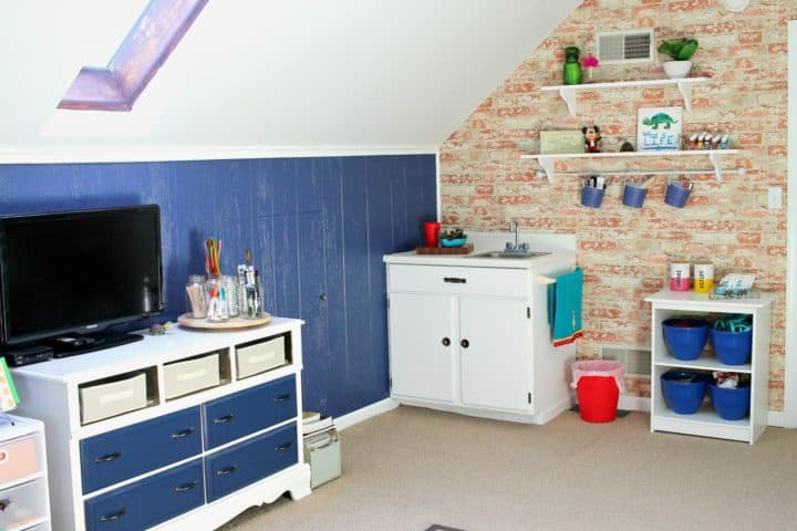 craft room makeover before after