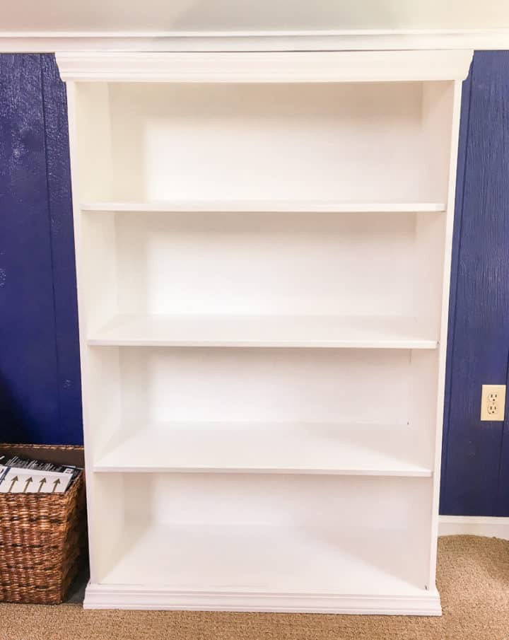 how add trim to a laminate bookshelf to make it look custom