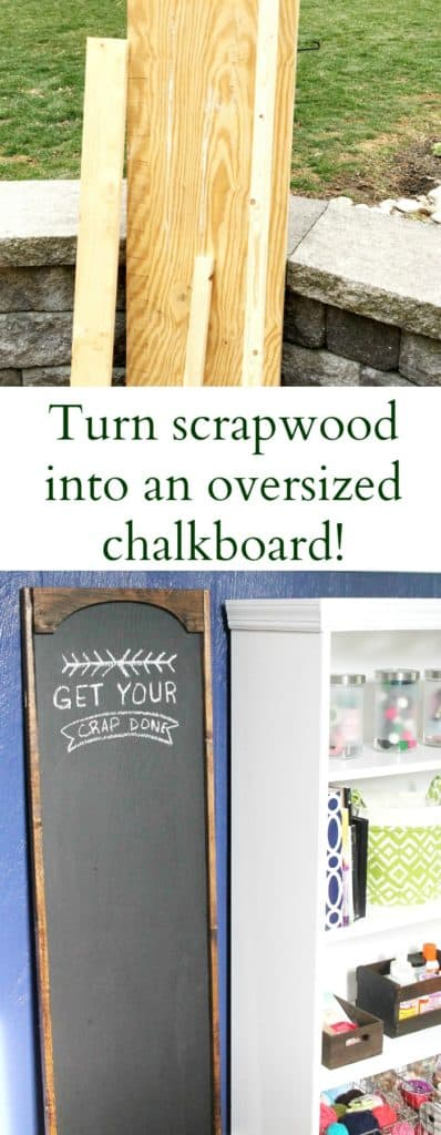 how to turn scrap wood into an oversized chalkboard