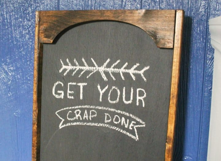 oversized to-do chalkboard