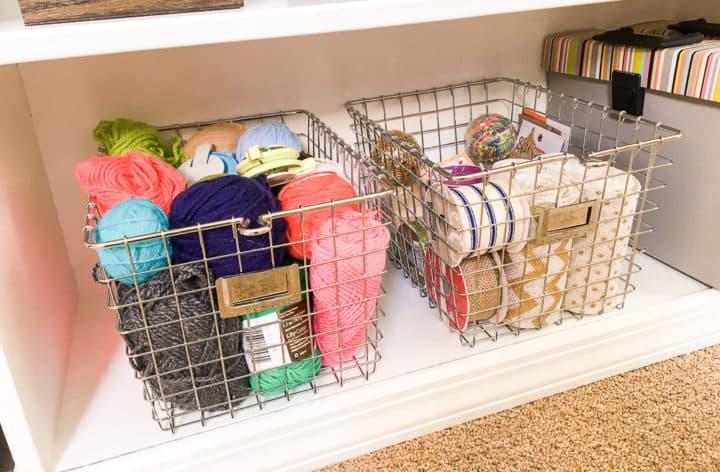 yarn and ribbon storage