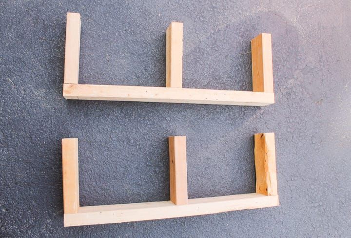 Building supports for floating shelves