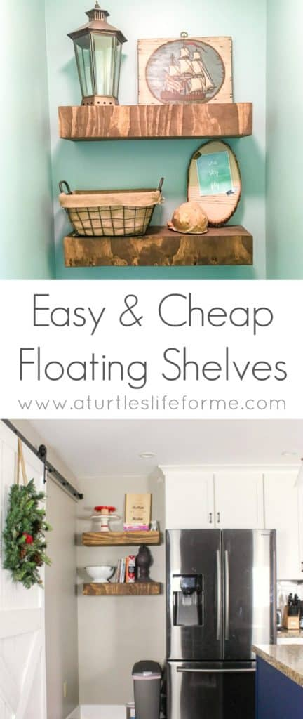 How to build floating shelves a turtle 39 s life for me for Easy way to make shelves