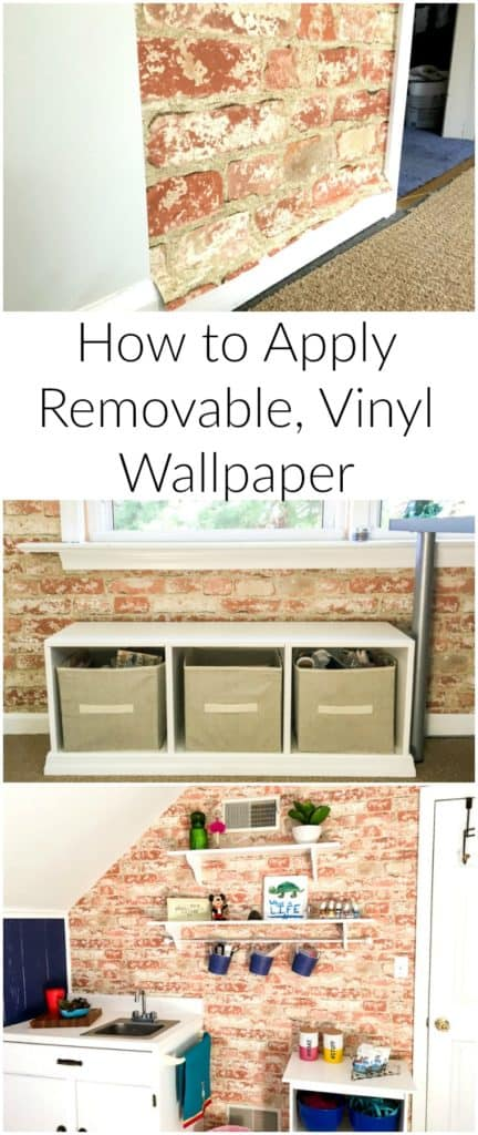 How to apply removable vinyl wallpaper to your room