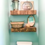 How to build floating shelves above a toilet