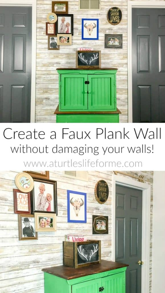 How to create a faux plank wall