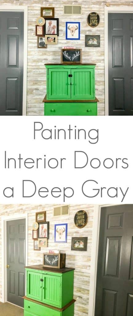 Painting Interior Doors a Deep Gray