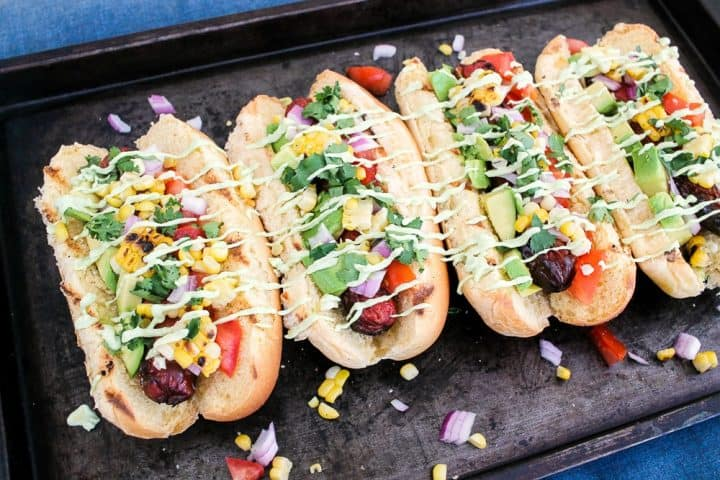 How to Grill Tex Mex Hot Dogs on a fire pit
