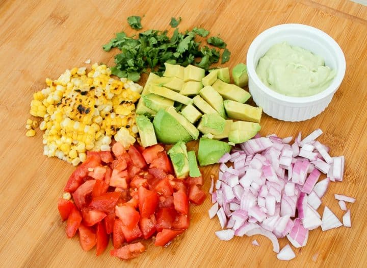 Ingredients for Tex Mex Hot Dogs