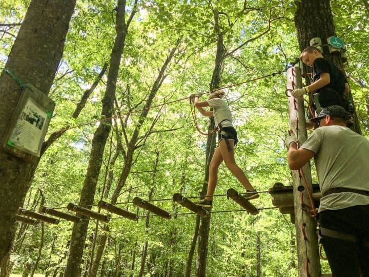 Poconos Skytop Lodge tree top adventure course