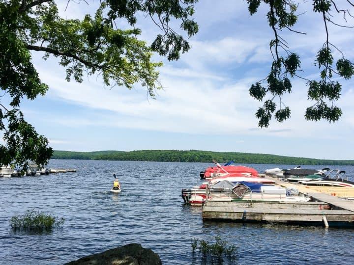 Silver Birches in Poconos kayaking