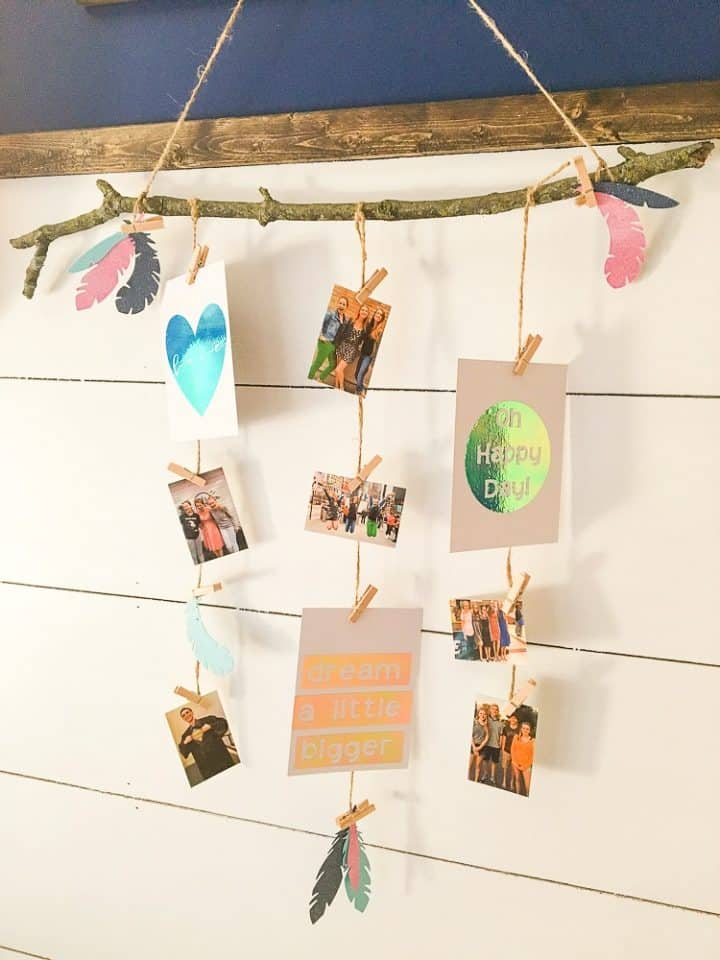 how to make a photo display with your cricut