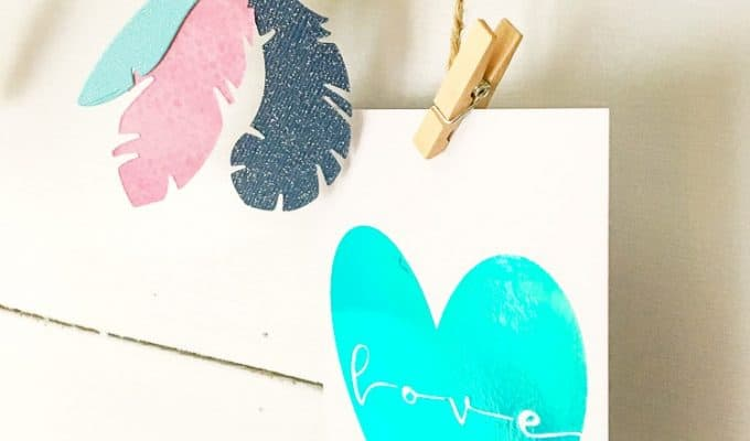 How to Create a Photo Display with Cricut