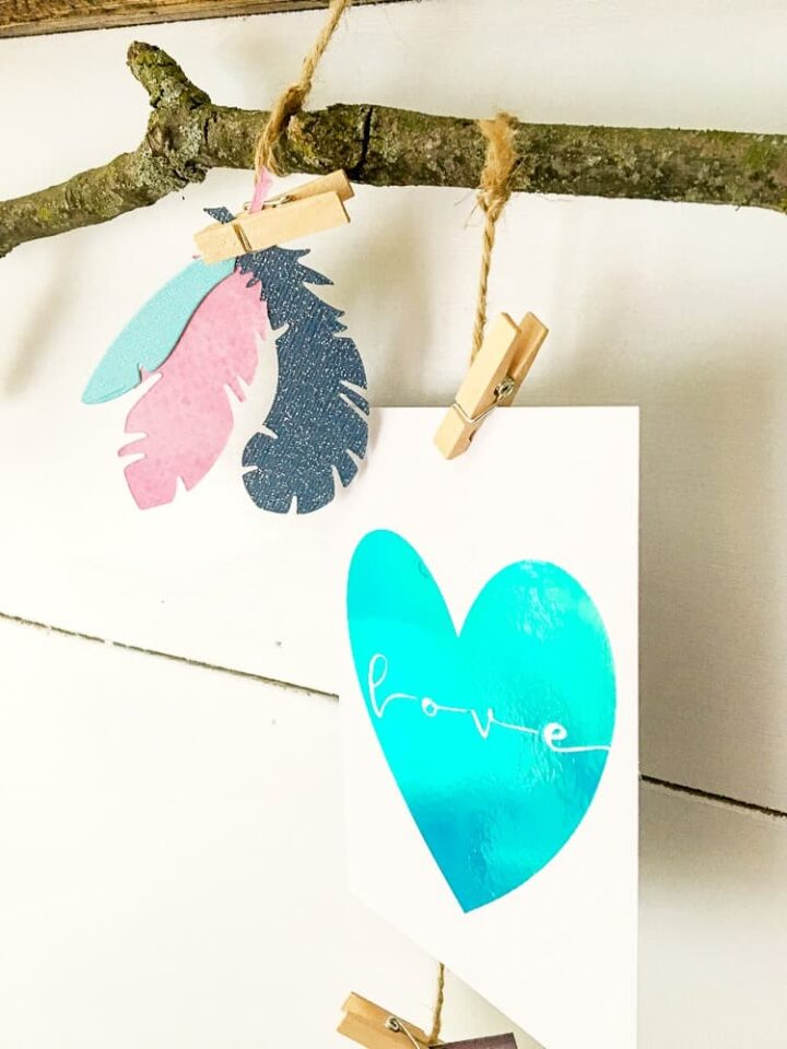 how to use foil adhesive to create cards