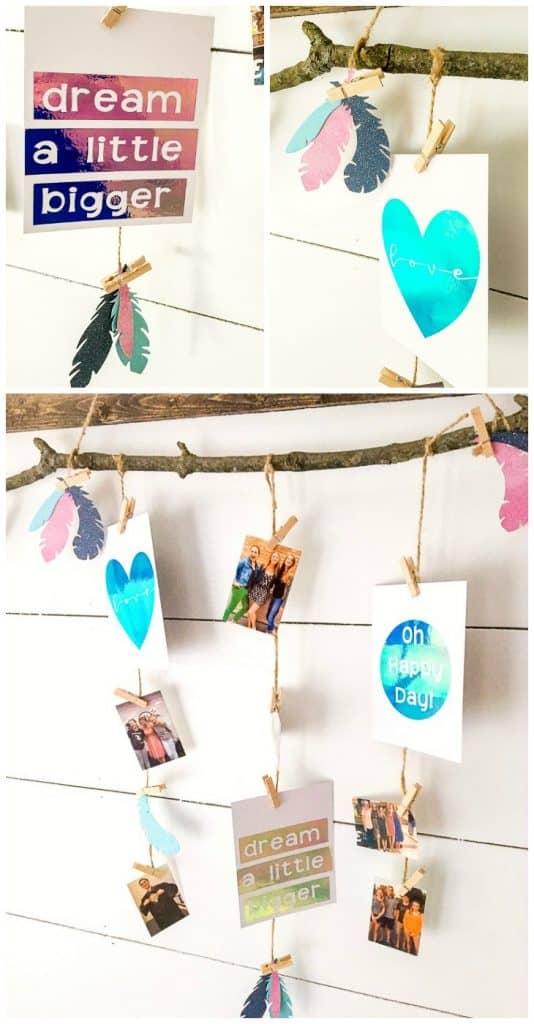 how to use your Cricut to create a photo display