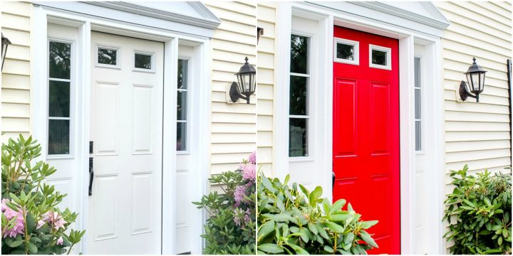 painting a front door red