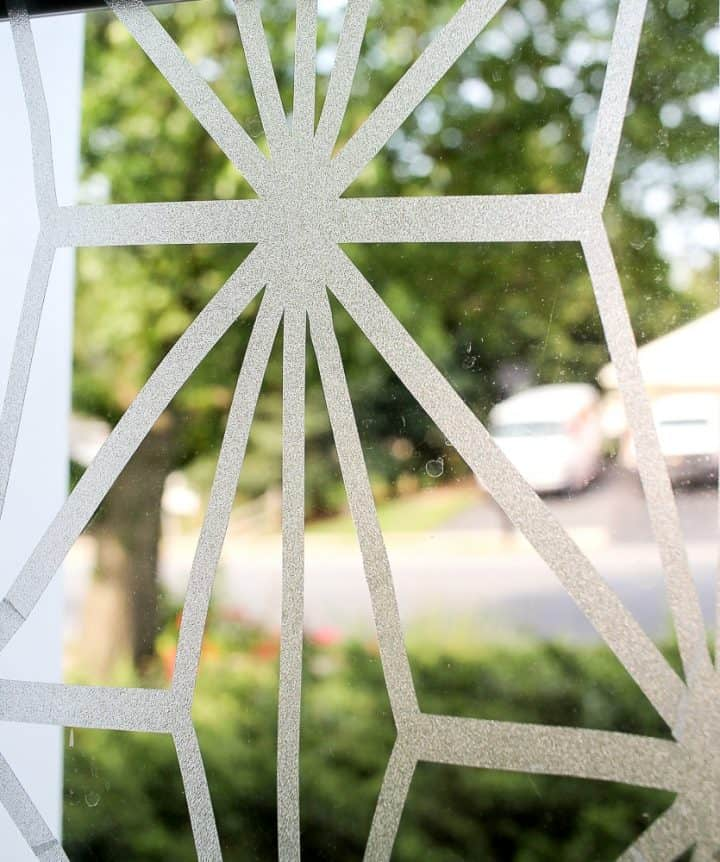 covering sidelights with window cling