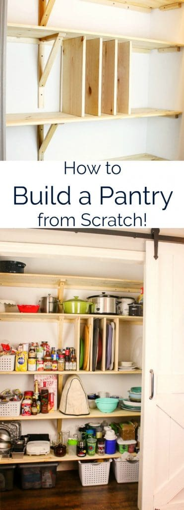 how to build a pantry with measurements