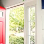 how to use Cricut window cling on front door sidelights