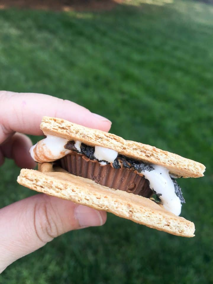 peanut butter cup s'mores bar