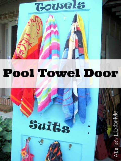 pool towel re purposed door for pool towels a turtles life for me