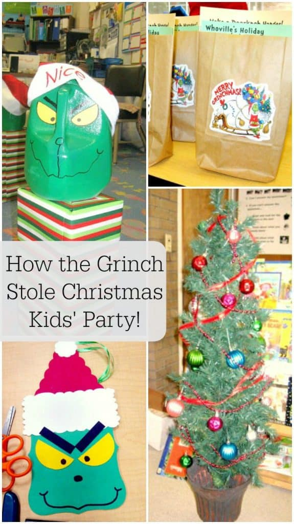 how the grinch stole christmas kids party filled with ideas for games food - The Grinch Themed Christmas Decorations