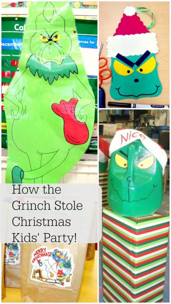 How the Grinch Stole Christmas Kids' Party- filled with ideas for games, food, favors and more!