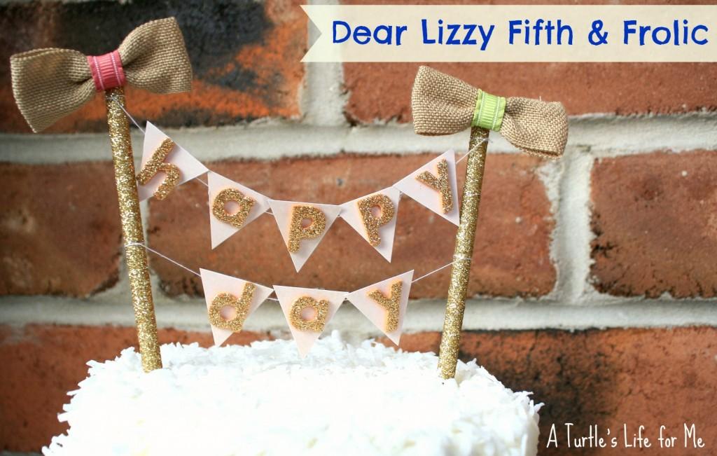 cake bunting pennant fifth & frolic dear lizzy