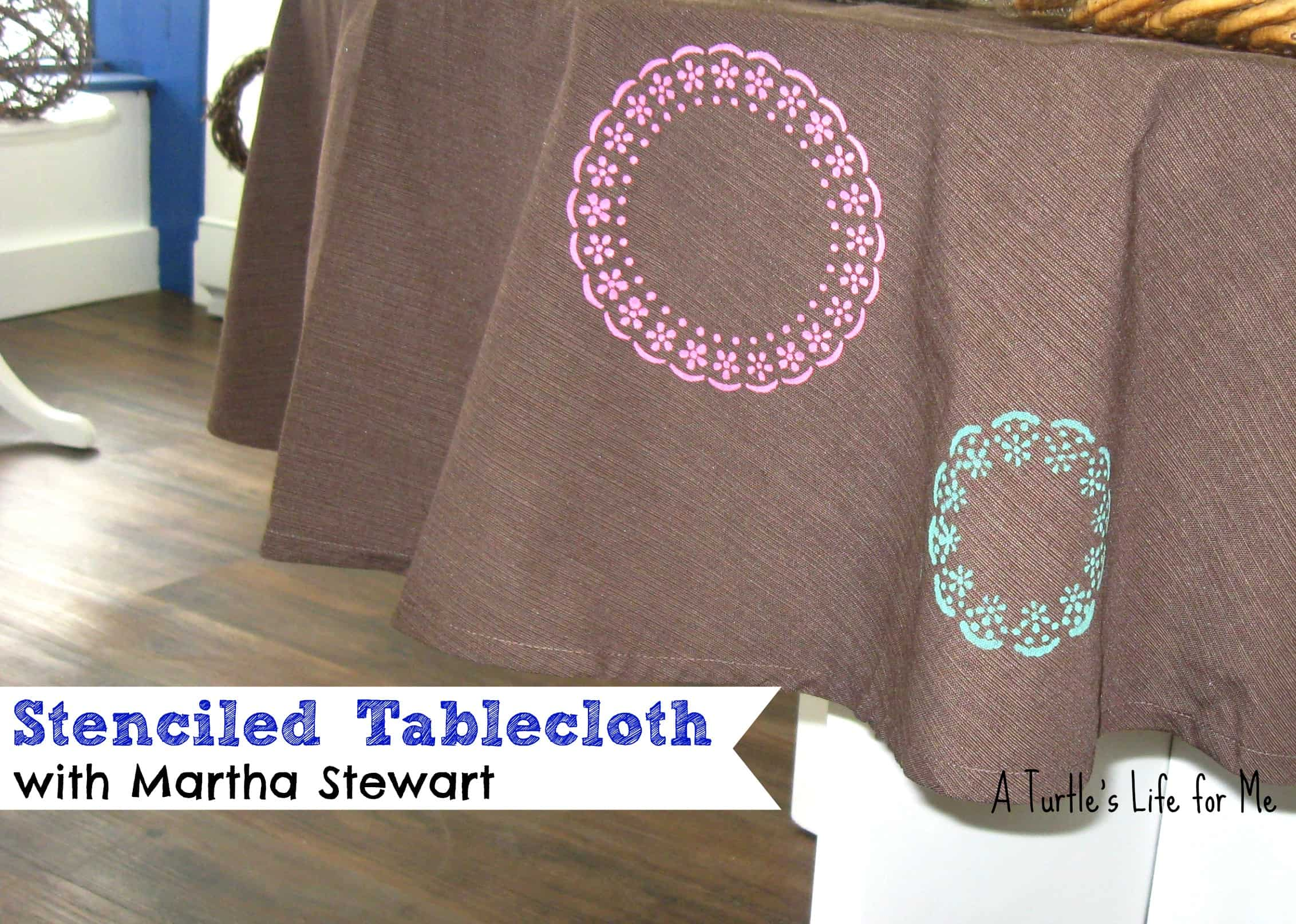 Stenciled Stencil Tablecloth Martha Stewart Fabric Paint